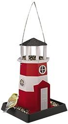 North States Village Collection Light House Birdfeeder- Red/White