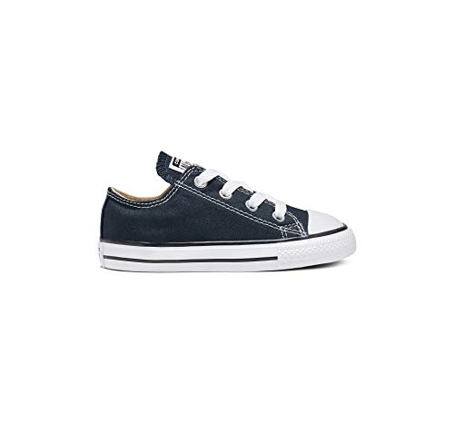 Converse Baby Chuck Taylor All Star Canvas Low Top Sneaker, Navy, 2 M US Infant/Toddler