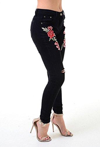 Fashions Jeans amp;Ayat Black Momo Floral Distressed Donna 7RwgW5q