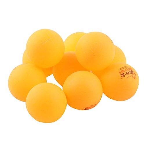 uxcell Plastic Sport Training Table Tenni Washable Ping Pong Ball 40mm Dia 10pcs Orange