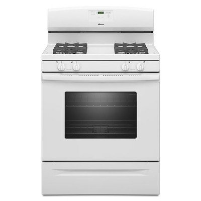 AMANA AGR5630BDW 5.0 cu. ft. Single Oven Free-Standing Gas Range, 30'', White
