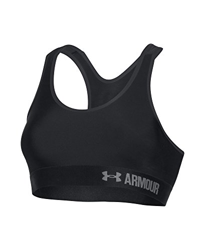 Image of the Under Armour Women's Armour Mid Sports Bra,Black/Gray Area, Large