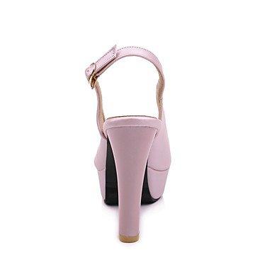 LvYuan Mujer Sandalias Tira en el Tobillo PU Verano Fiesta y Noche Tira en el Tobillo Tacón Stiletto Blanco Rosa Azul Claro 10 - 12 cms blushing pink