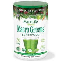 Macro Life Naturals Macro Greens - Macro Greens-Nutrient-Rich Super Food Supplement, (2 Pack) 10oz