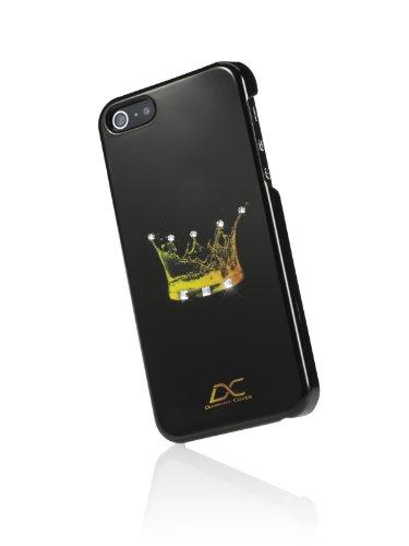 Diamond Cover 301006 Princess Case inkl. Displayschutzfolie mit Kristallen von Swarovski für Apple iPhone 5/5S schwarz