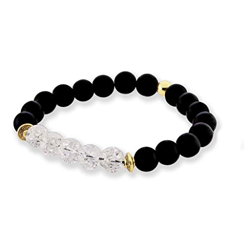 Believe London Onyx Gemstone Bracelet Healing Bracelet Chakra Bracelet Anxiety Crystal Natural Stone Men Women Stress Relief Reiki Yoga Diffuser Semi Precious