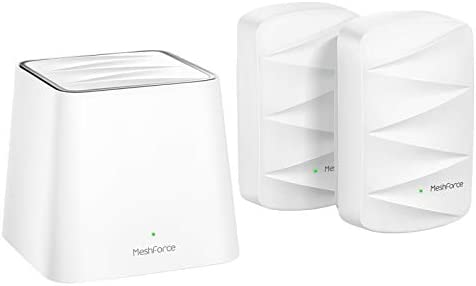 MeshPower Whole Home Mesh WiFi System M3 Suite (1 WiFi Point + 2 WiFi Dot) - Dual Band WiFi System Router Replacement and Wall Plug Extender - High Performance Wireless Coverage for five+ Bedrooms Home
