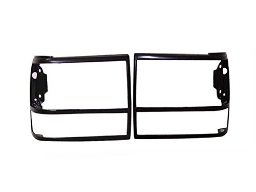 (Bundle 91-94 Explorer 89-92 Ranger Headlight Door Bezel Black Set=Lh & Rh)