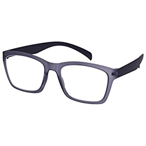 Edge I-Wear High Quality Lightweight Square Frame Reading Glasses 540968SF-2.75-4(M.CLGY)