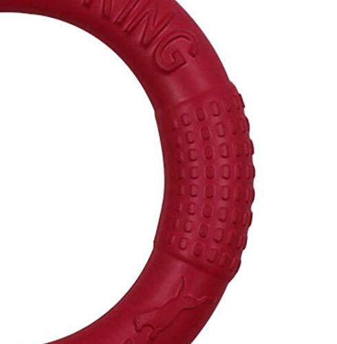 Jouet mignon Classique Volant Disque Chien Volant Anneau Frisbee Animaux Flying Disc Non-Toxique Anneau Fitness pour Chiens Environ 18 cm Rouge