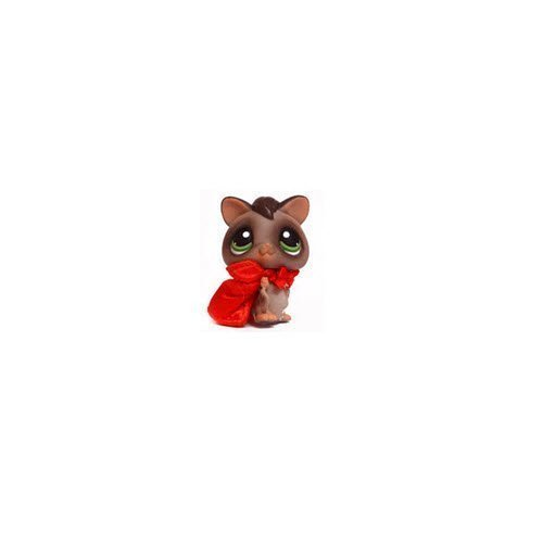 Littlest Pet Shop Halloween Sugar Glider Bat # 432 (Gray with Green Eyes and A Cape) - LPS Loose Figures - Replacement Pets - LPS Collector Toy (Out of Package/OOP) -
