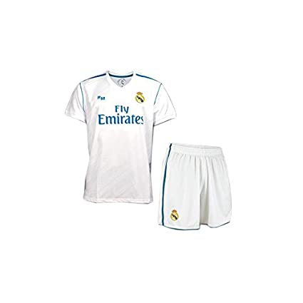 BOX SET 1ª EQUIPACION REAL MADRID REPLICA OFICIAL 2017-2018- TALLA 12 AÑOS