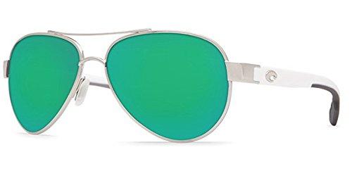 Costa Del Mar Loreto Sunglasses, Palladium, Green Mirror 580P Lens (Costa Aviators)