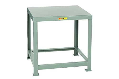 Little Giant MTH1-2830-30 Welded Steel Machine Table, 10,000 lb. Load Capacity, 30'' x 30'' x 28'', Gray by Little Giant (Image #1)