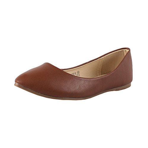 Slip On Tan Shoes Womens Marie Flats Classic Toe Pointy Ballet Bella 0n7FxSwqYn