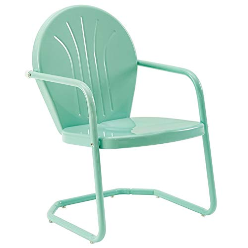 Crosley Furniture Griffith Metal Patio Chair in Aqua