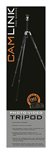 Camlink 28mm Line Diameter Professional Tripod - Silver by Camlink (Image #10)