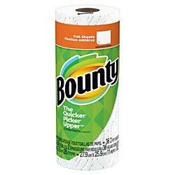 Bounty 2-Ply Paper Towels, 11in. x 10 1/4in, White, Pack Of 30 Rolls