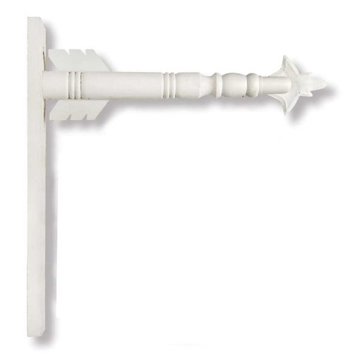 Arrow Hanger for Inter-Changeable Decorative Plaques and Signs - White