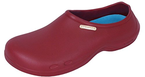 11ebfafbf057 Sensfoot Non Slip Mens and Womens Chef Clog Shoes for Kitchen Bathroom Work-WINE  (LARGE-US MEN 8.5-9    US WOMEN 9.5-10) - Buy Online in Oman.