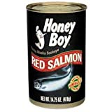Honey Boy Red Salmon, 14.75 Oz. Cans, (Pack of 4)