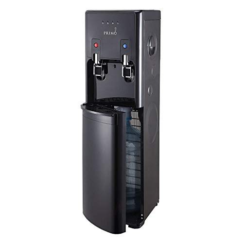 New Hot Cold Water Dispenser Black 5 Gallon Capacity Bottom
