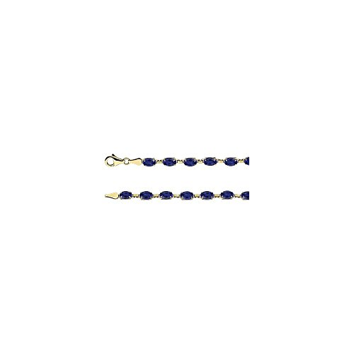 - 14k Yellow Gold Sapphire Blue Sapphire Bracelet
