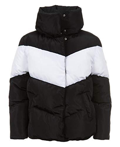 Calvin Klein Big Girls Colorblock Puffer Jacket, Deep Black, M8/10