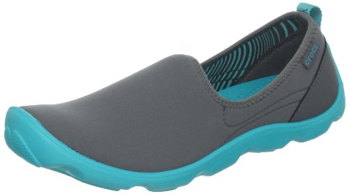 Crocs Womens Duet Busy Day Shoe Graphite/Turquoise