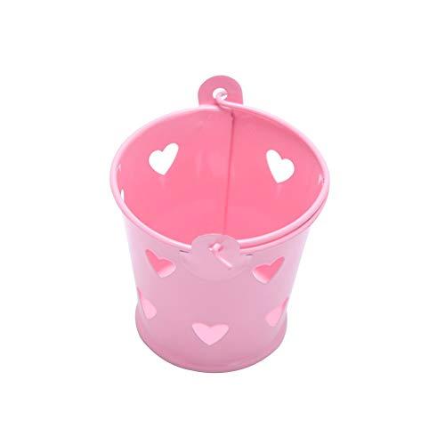 Storage Baskets - Mini Metal Bucket Hollow Heart Wedding Favor Gift Candy Box Desk Organizer - Tall Outdoor Dollars Home Plastic Java Paper Gray Orange Lids Rectangular Laundry Round Ivory Dr