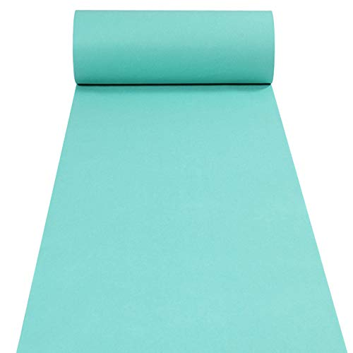 Accessory Tiffany - Aisle Runners Wedding Accessories Tiffany Blue Aisle Runner Carpet Rugs for Step and Repeat Display, Ceremony Parties and Events Indoor or Outdoor Decoration 24 Inch Wide x 15 feet Long