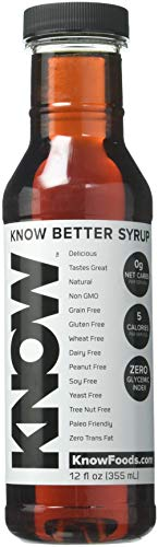 KNOW Foods- KNOW Better Maple Syrup, Keto, Paleo, Sugar Free, Low Calorie, 12oz Bottle