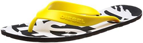 Gelb Diesel Separators Plaja Schwarz Splish 40 Sandali Toe da Uomo Logo 46 qqapPBw