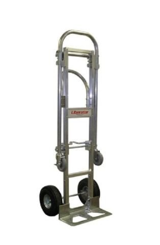 Made in USA Loop Handle 18'' Nose 10'' Pneumatic Tire Convertible (Senior) Hand Truck 2-Position by Liberator Brand