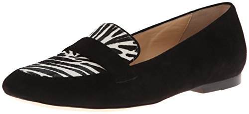 Cole Haan Womens Dakota Slip-On Loafer Black Suede/Zebra Haircalf