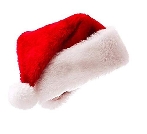 9da1776ffecf2 Amazon.com  JSDOIN Santa Hat for Adults Big Santa Hat Comfort Double ...