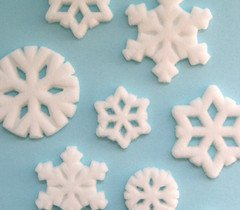 Assorted Snowflake Sugar Decorations Disney Movie Frozen Party Favors Cupcake 12 Count