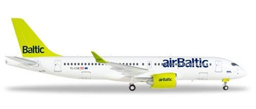 Herpa 558457-001 558457-001 558457-001 AirBaltic Bombardier CS300 - YL-CSB 1/200 1a2a18