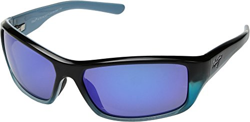 Maui Jim Barrier Reef B792-06C | Polarized Blue with Turquoise Wrap Frame Sunglasses, Hawaii Lenses, with with Patented PolarizedPlus2 Lens Technology