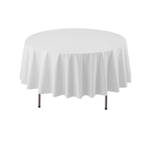 Party Essentials ValuMost Round Plastic Table Cover Available in 16 Colors, 84