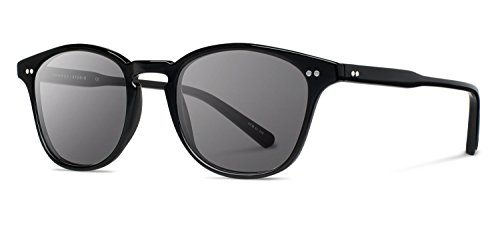Shwood- Kennedy Acetate, Sustainability Meets Style, Black, Grey Lenses by Shwood