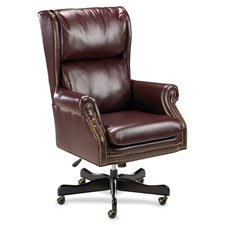 Lorell Swivel Executive Chair, 29 by 32 by 45-Inch-47-Inch, Burgundy (Executive Chair Traditional)