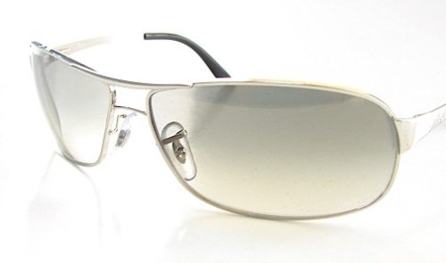 8431368f09 New Ray Ban Rayban Rb 3343 003 32 Grey Gradient Lens Silver Sunglasses Size  60-12-125  Amazon.co.uk  Clothing
