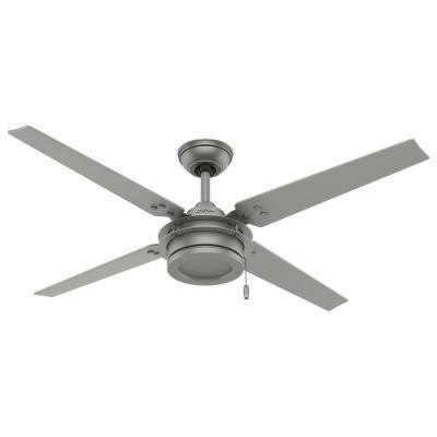Hunter gunnar 54 in outdoor ceiling fan with whisper quiet outdoor ceiling fan with whisper quiet performance matte silver aloadofball Gallery