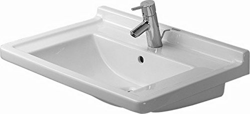 Duravit 03047000001 Furniture washbasin 70 cm Starck 3 white WonderGliss, Large,