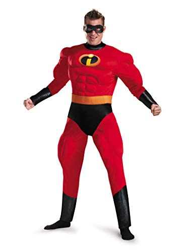 Original Couple Costumes For Halloween (Disguise Men's Plus Size Mr. Incredible Deluxe Muscle Adult Costume, red, XXL)