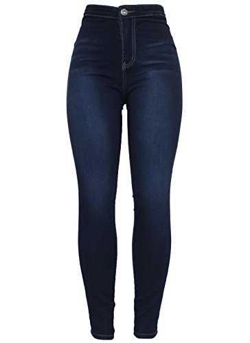 Blue Tube Dark Ladies Size Slim Fit Black Denim Blue Khaki Pencil Waisted Fashion 16 Jean 1183 Skinny Womens Stretchy New 6 High Barfly q1f6wT