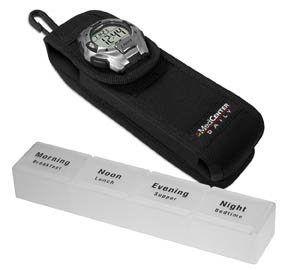 MedCenter Pill Orgainizer Watch Reminder Xl Capacity by MedCenter