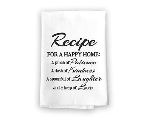 - Recipe for a Happy Home Flour Sack Towel, 27 x 27 Inches, 100% Cotton, Highly Absorbent, Multi-Purpose Kitchen Dish Towel
