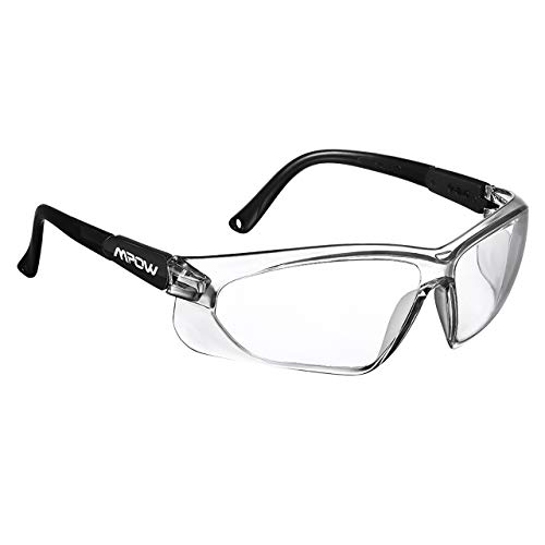 Mpow 104 Safety Glasses, Protective Glasses/Goggles/Eyewear for Eye Protection, UV Protection, Anti-scratch, Anti-fog, Impact Resistance for Shooting, Carpentry, Lab Work